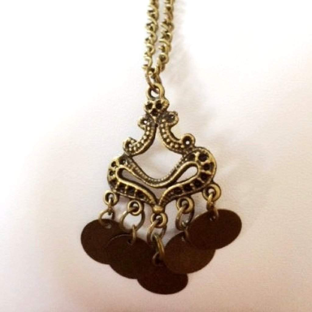 Brass Antique Charm Necklace - JaeBee Jewelry