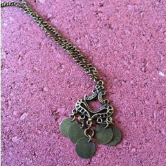 Brass Antique Charm Necklace