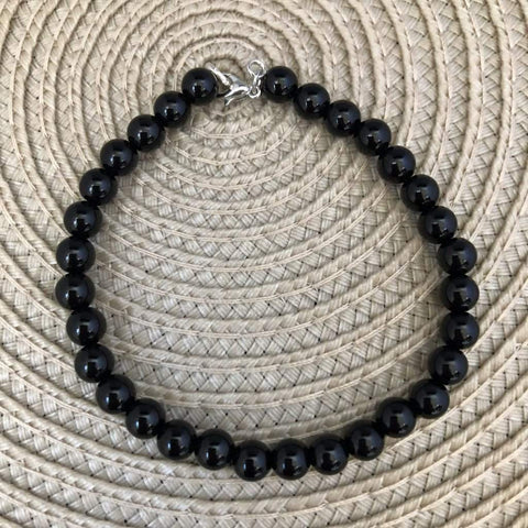Men's Black Onyx Beaded Bracelet
