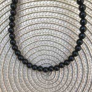 Mens Black Onyx Beaded Long and Short 6mm Necklaces - JaeBee Jewelry