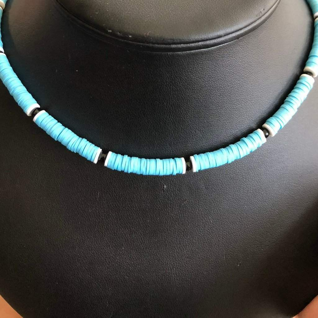 Light Blue Beaded Unisex Necklace - JaeBee Jewelry