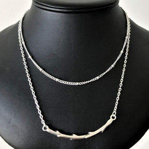 Silver Branch Layered Necklace - JaeBee Jewelry