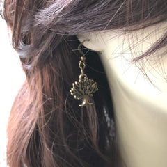 Brass Tree of Life Dangle Earrings - JaeBee Jewelry