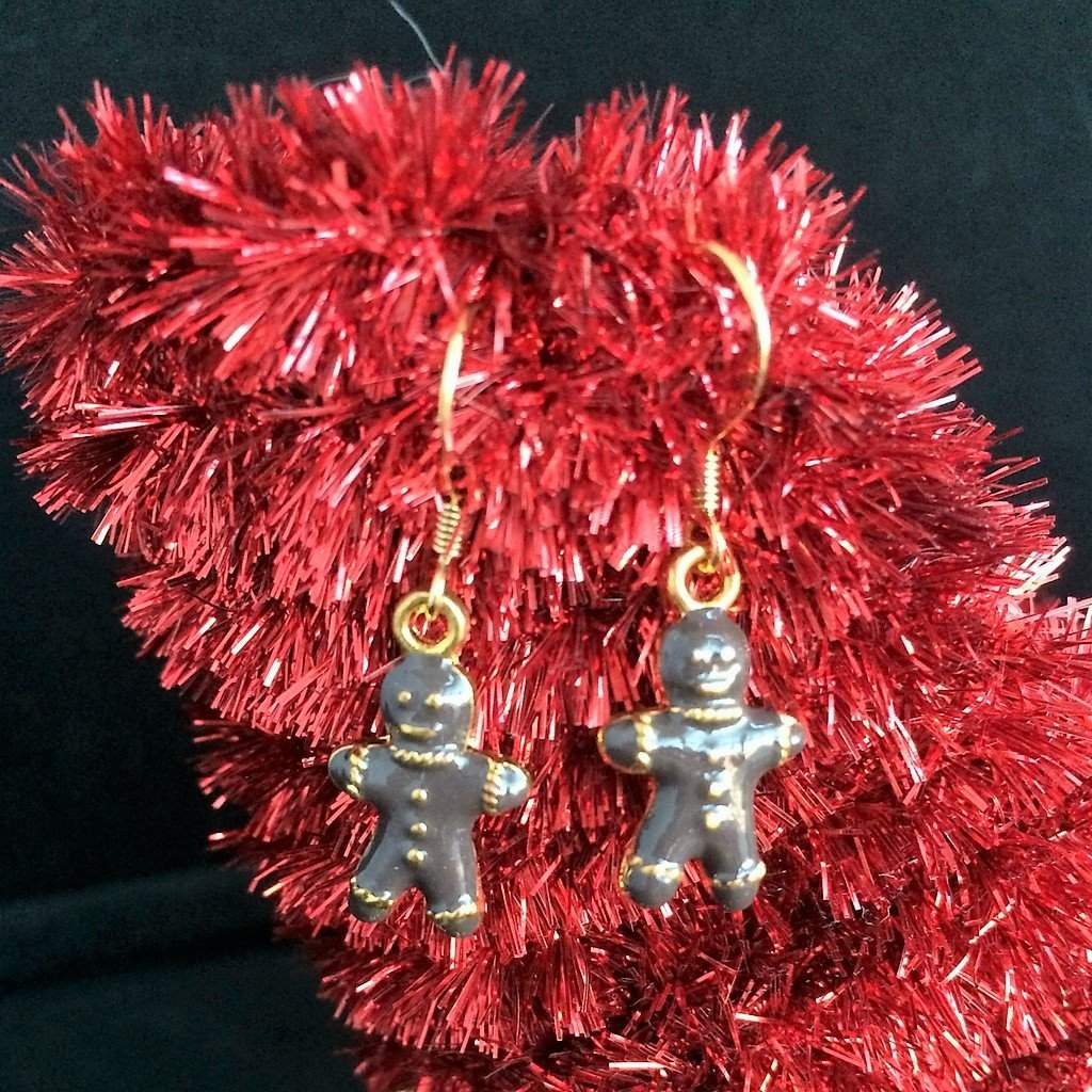Gingerbread Men Christmas Earrings - JaeBee Jewelry