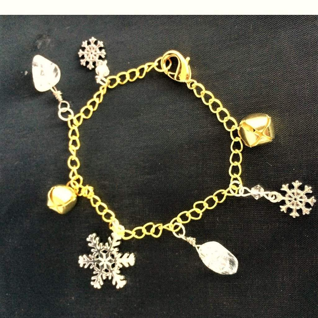 Winter Wonderland Silver and Gold Christmas Bracelet - JaeBee Jewelry