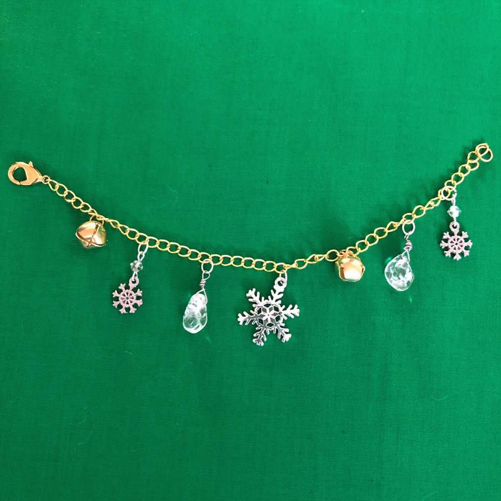 Winter Wonderland Silver and Gold Christmas Bracelet