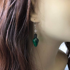 Christmas Light Bulb Dangle Earrings - JaeBee Jewelry