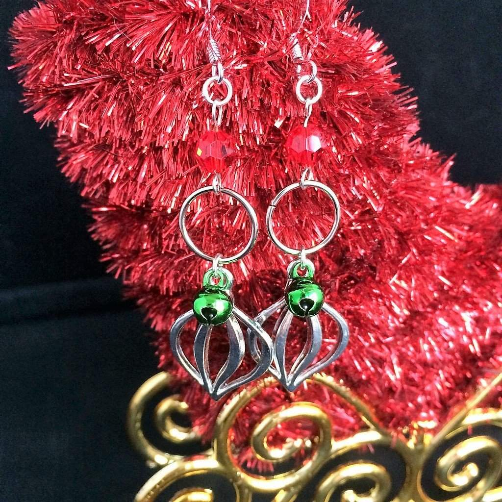 Christmas Ornament Dangle Earrings - JaeBee Jewelry