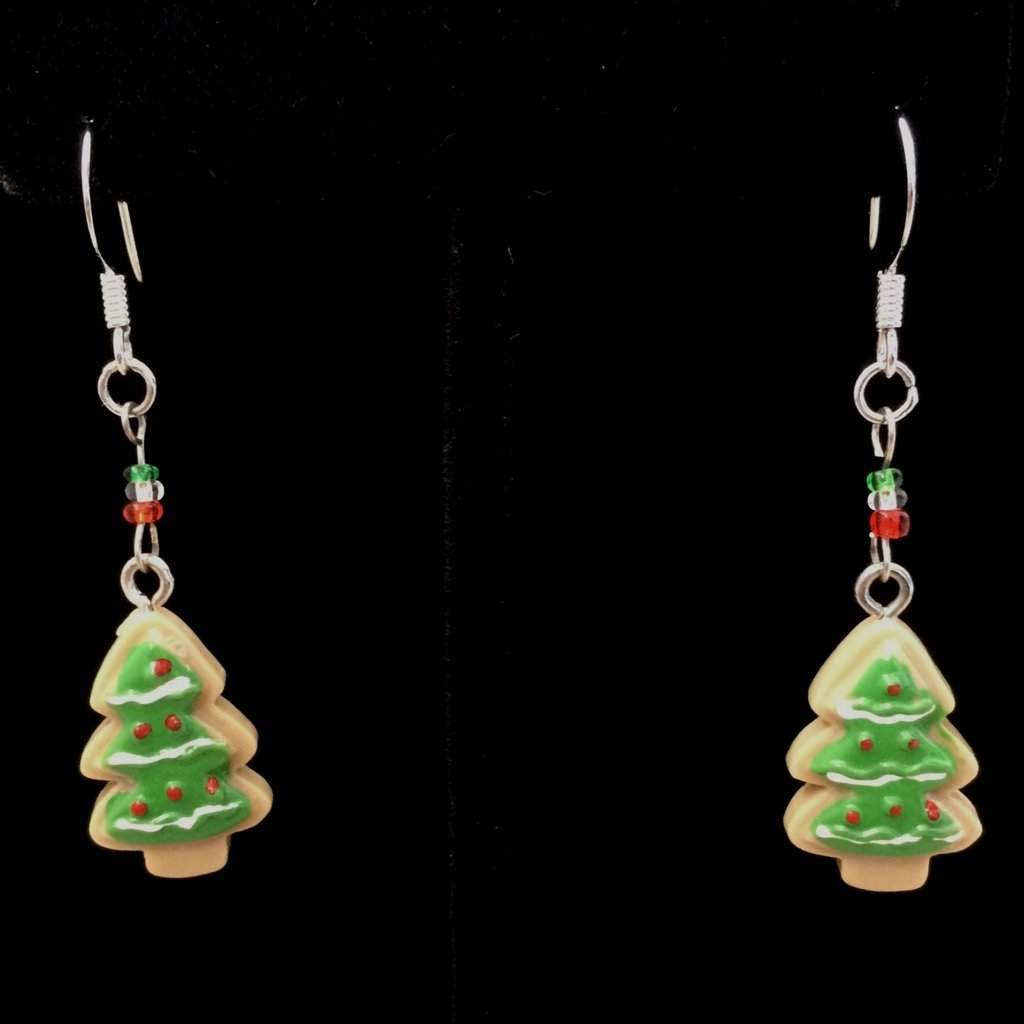 Christmas Tree Dangle Earrings - JaeBee Jewelry