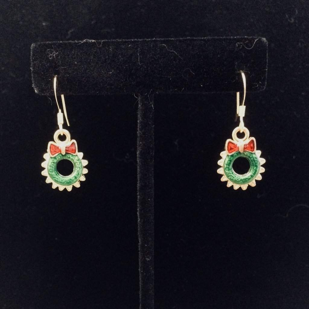 Christmas Wreath Earrings - JaeBee Jewelry