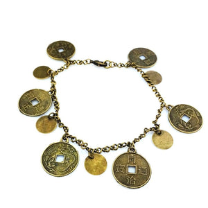 Gold Coin and Disc Anklet - JaeBee Jewelry