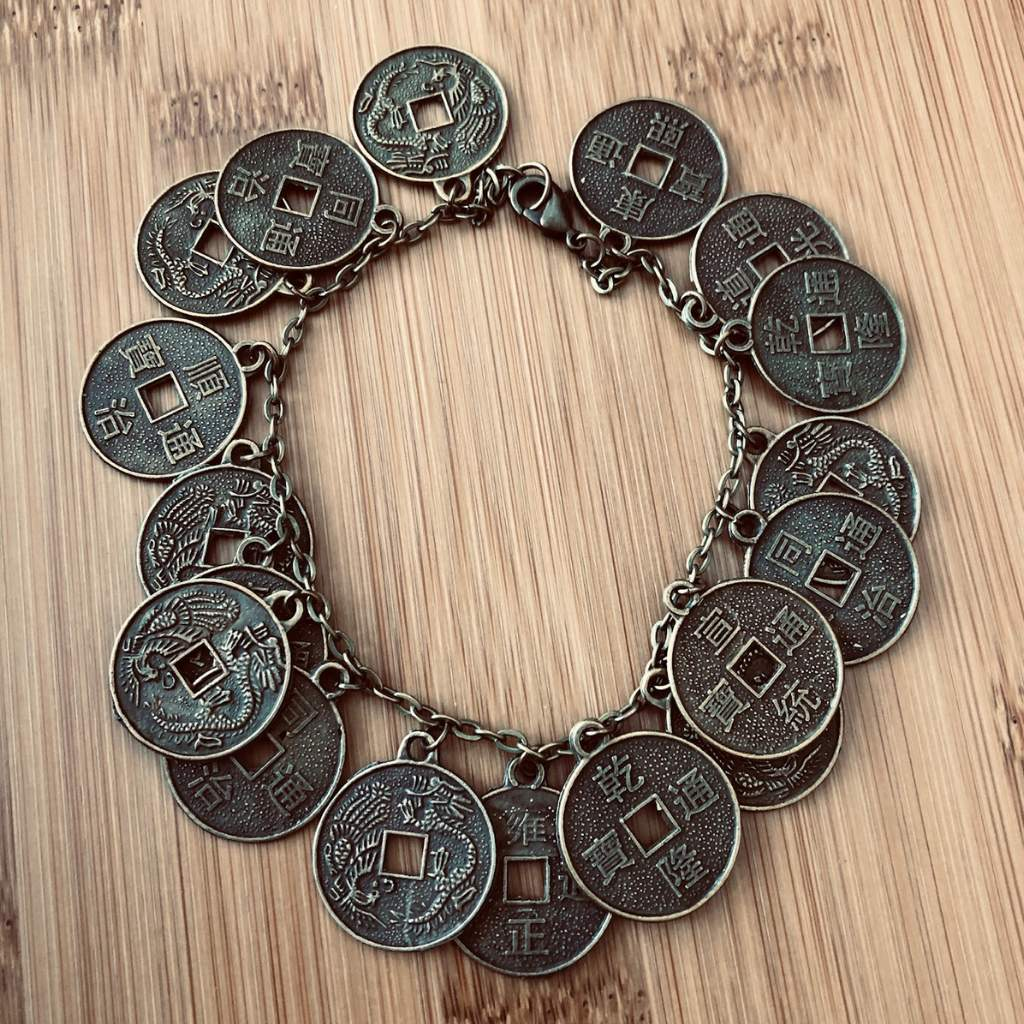 Chinese Gold Coin Charm Bracelet - JaeBee