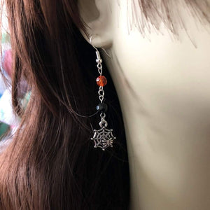 Halloween Spider Dangle Earrings - JaeBee Jewelry