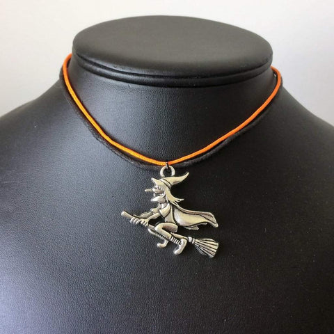 Halloween Witch Orange and Black Choker