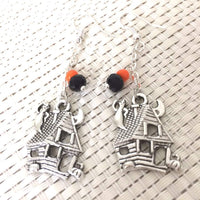Halloween Haunted House Dangle Earrings - JaeBee Jewelry