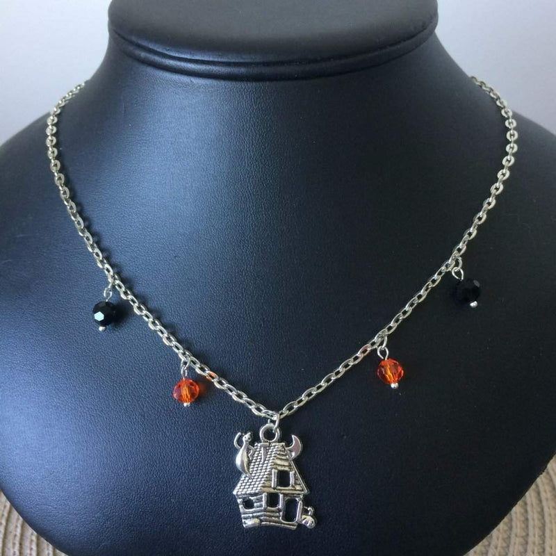 Haunted House Halloween Chain Necklace - JaeBee Jewelry