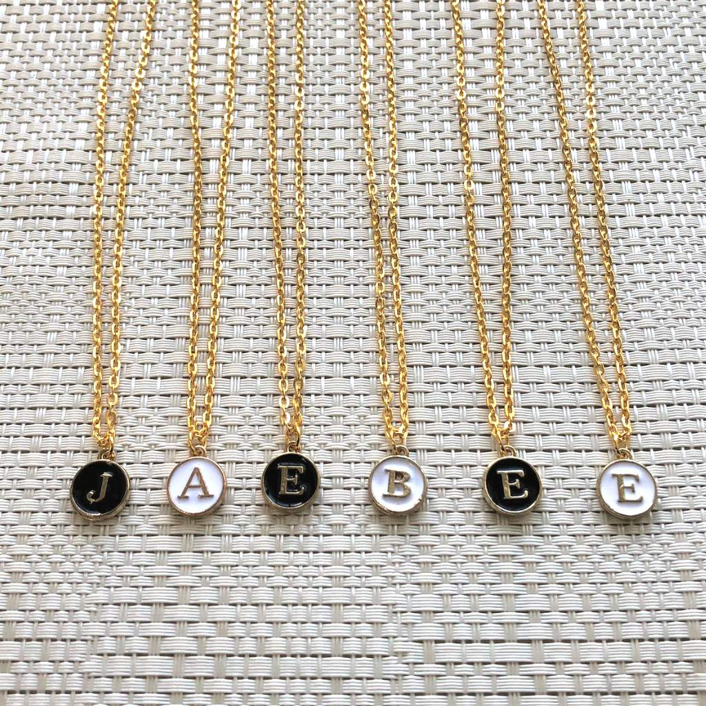 Personalized Initial Pendant Gold Necklace - JaeBee Jewelry
