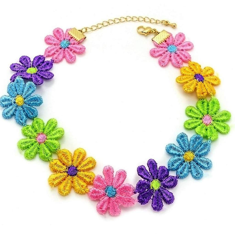 Multi Colored Flower Choker - JaeBee Jewelry