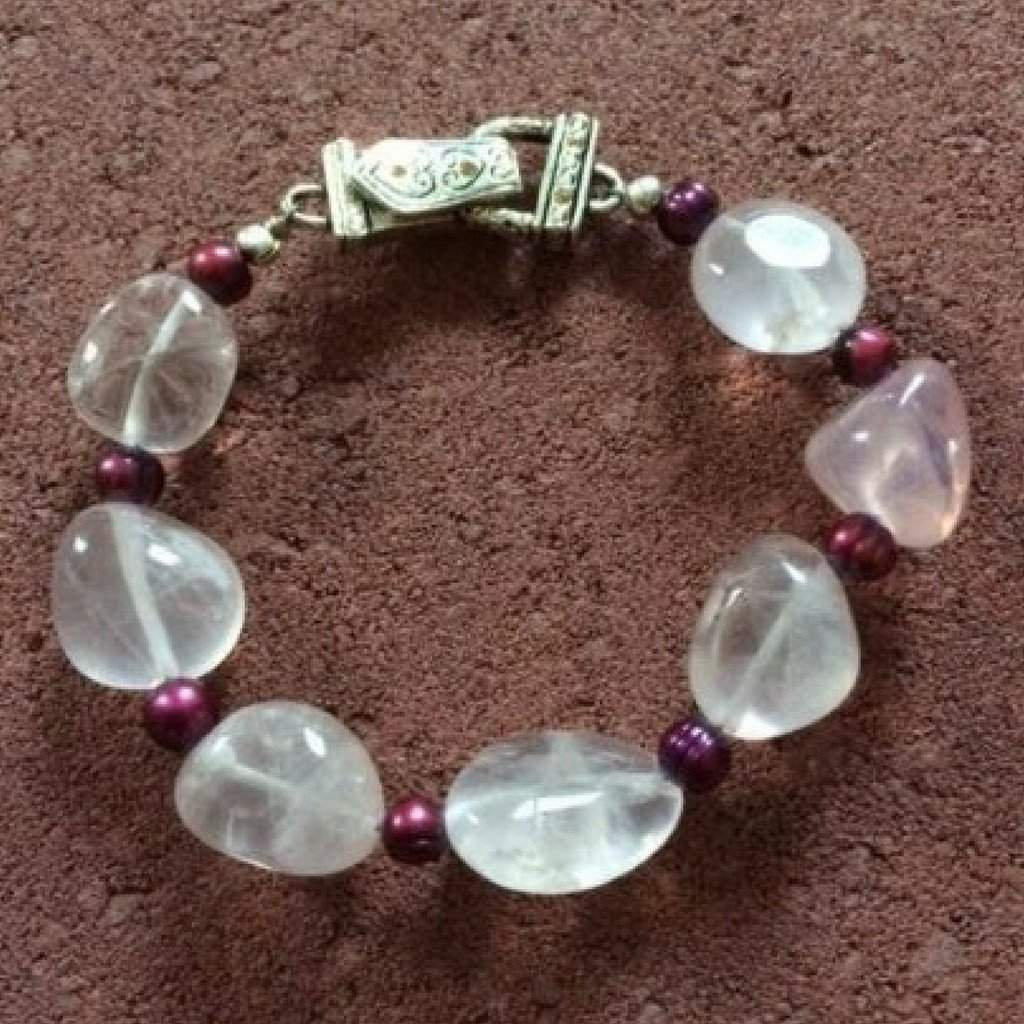 Rose Quartz Beaded Bracelet - JaeBee Jewelry