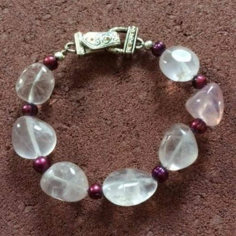 Rose Quartz Beaded Bracelet