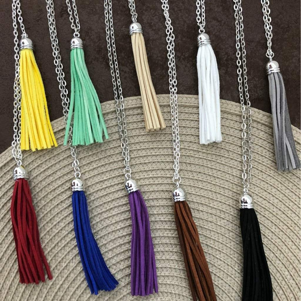Colorful Long Tassel Necklace - JaeBee