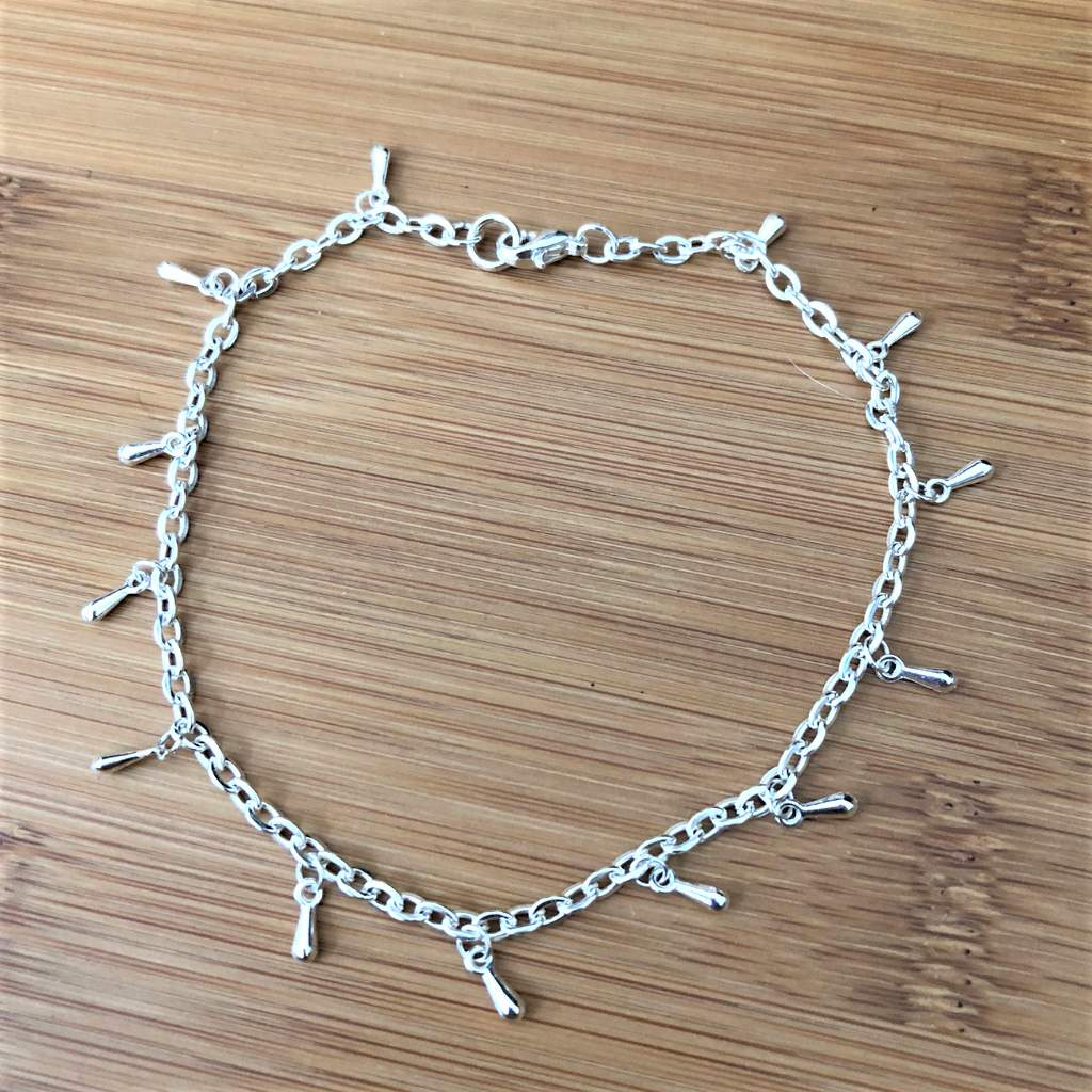 Silver Drop Chain Anklet - JaeBee Jewelry