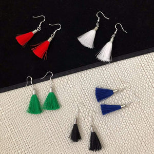 Colorful Tassel Earrings - JaeBee Jewelry