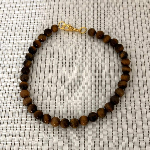 Tigers Eye Mens Beaded Bracelet