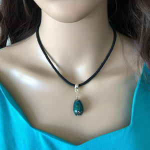 Turquoise Teardrop Collar Necklace - JaeBee Jewelry