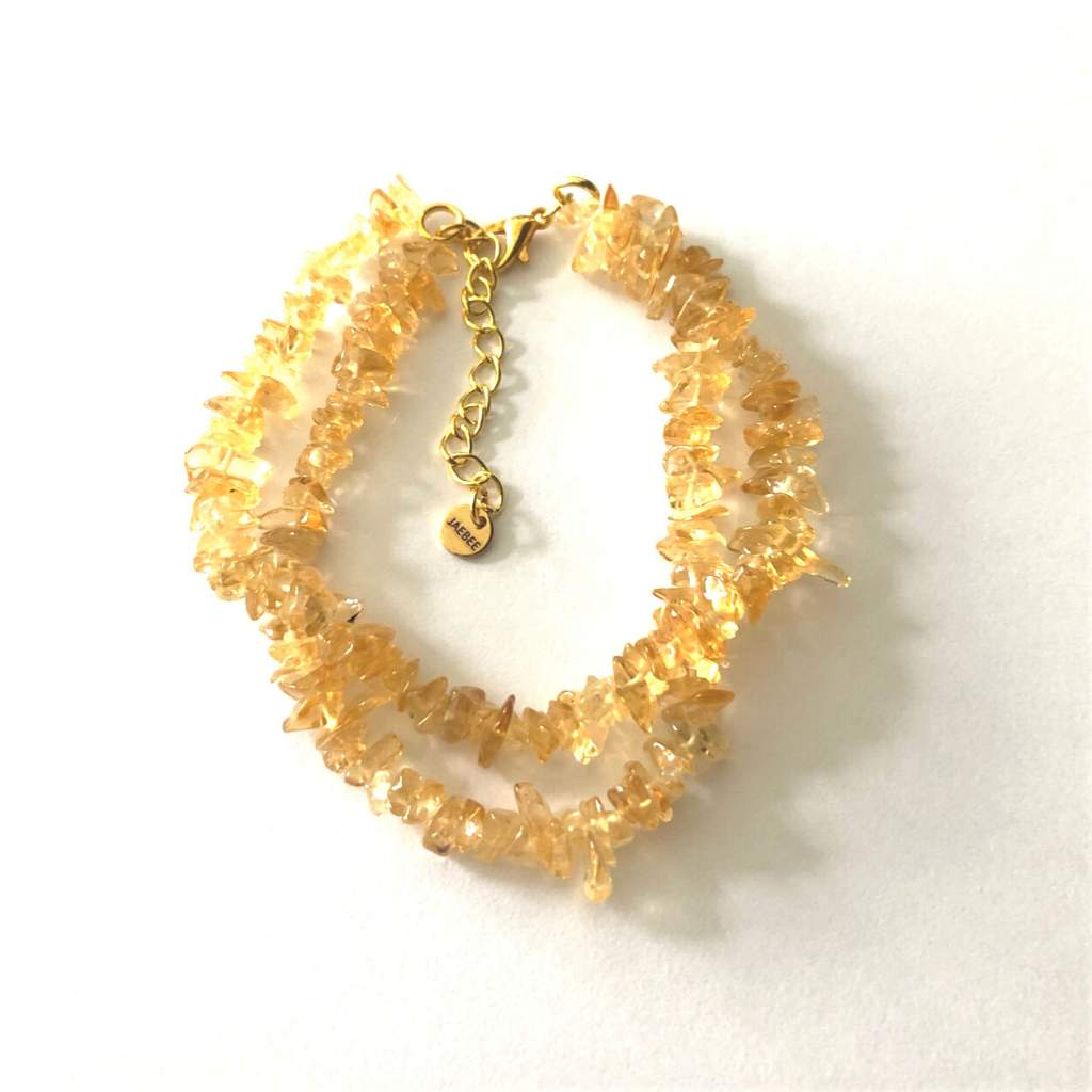 Citrine Chip Layered Bracelet