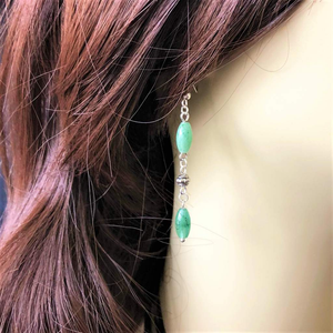Green Aventurine Dangle Earrings - JaeBee Jewelry