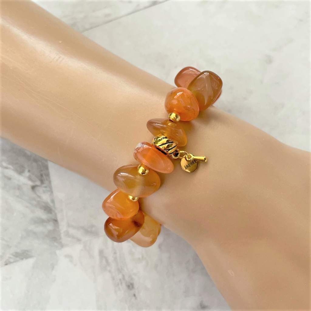 Red Agate Nugget Bracelet