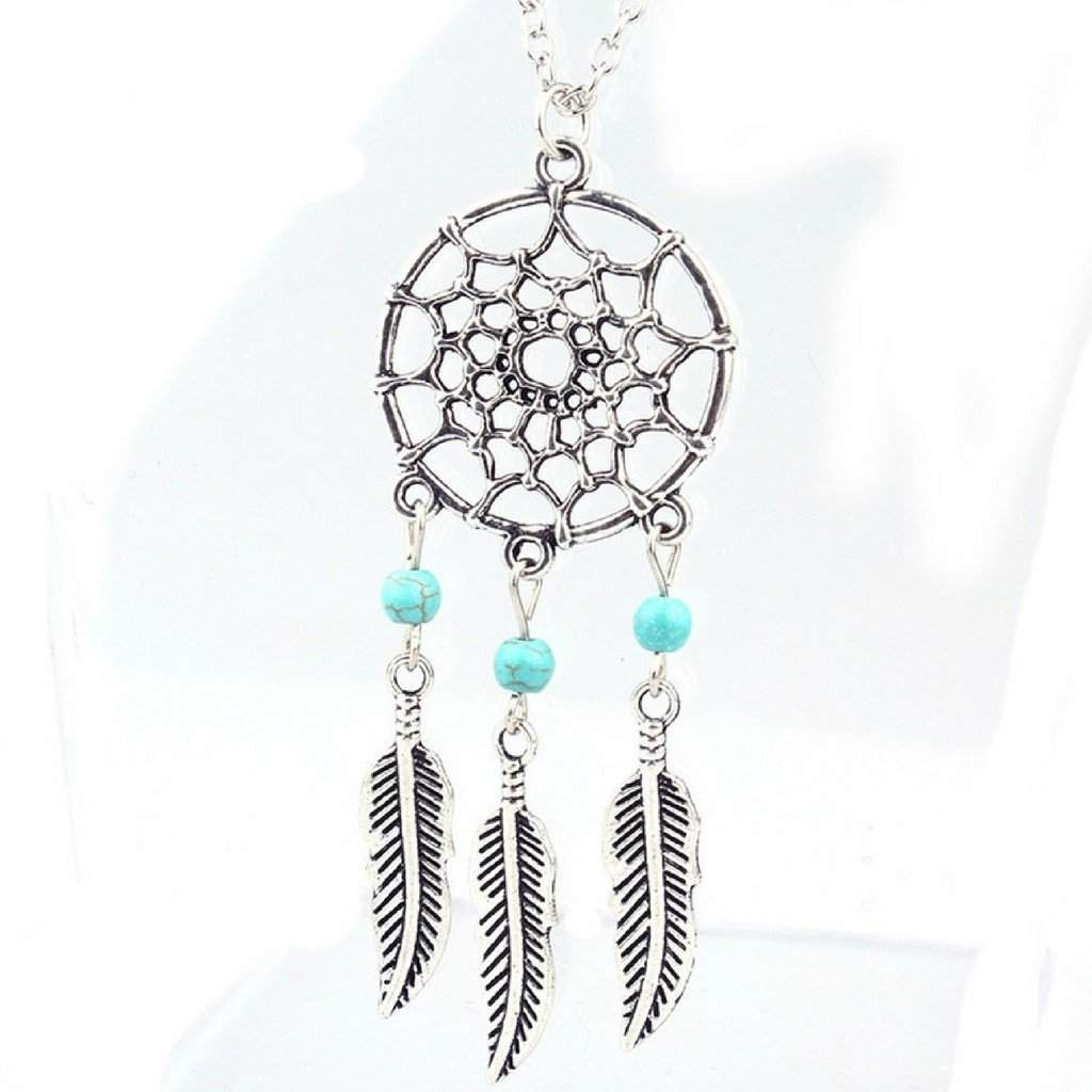 Silver Dream Catcher Necklace - JaeBee Jewelry