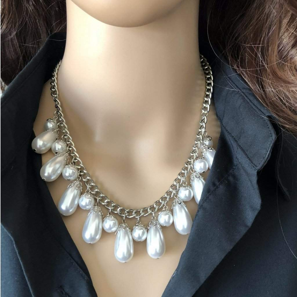 Pearl Drop Statement Necklace - JaeBee Jewelry