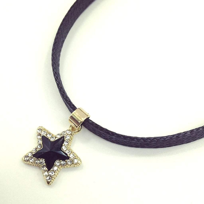 Black Crystal Star Choker - JaeBee Jewelry