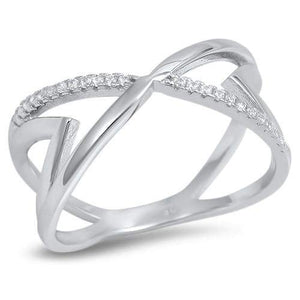Sterling Silver Geometric CZ Ring - JaeBee Jewelry