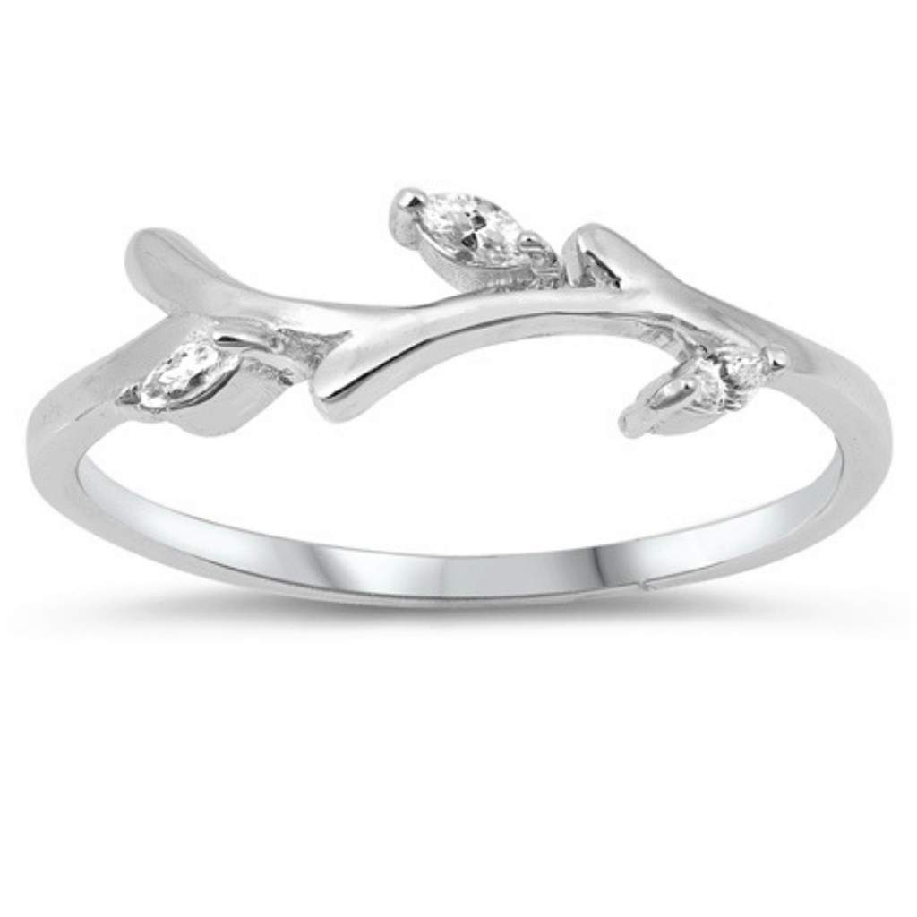 Buy The Cz And Sterling Silver Branch Ring Jaebee Jewelry