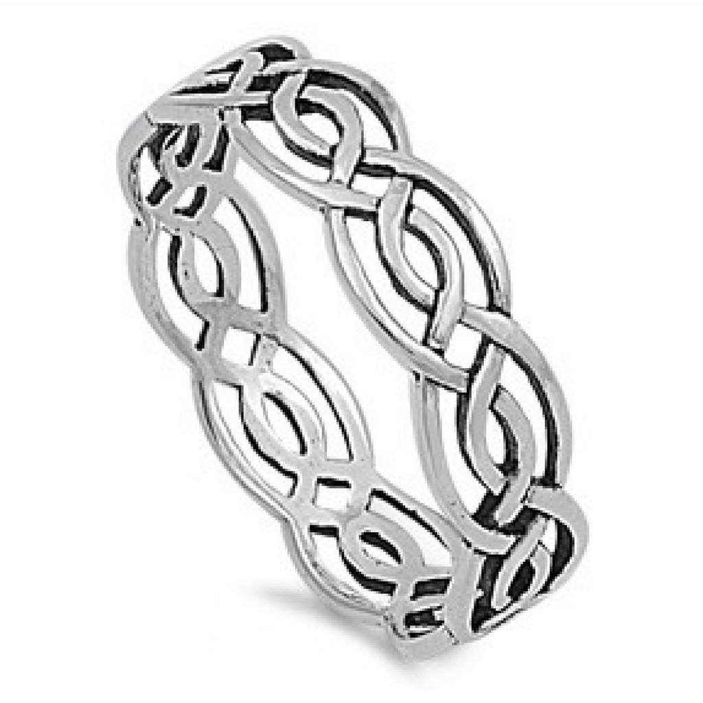 Sterling Silver Celtic Twisted Ring - JaeBee Jewelry