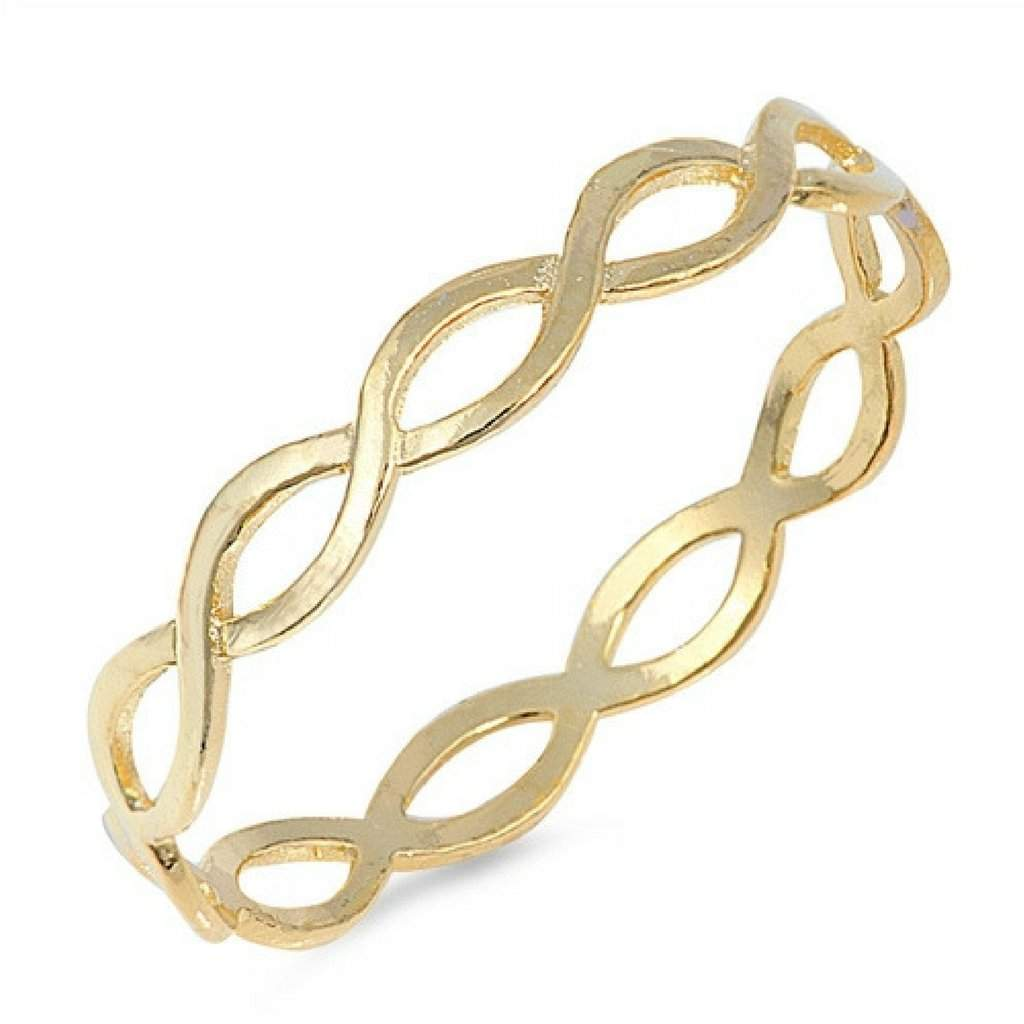 Gold Braided Sterling Silver Ring - JaeBee Jewelry