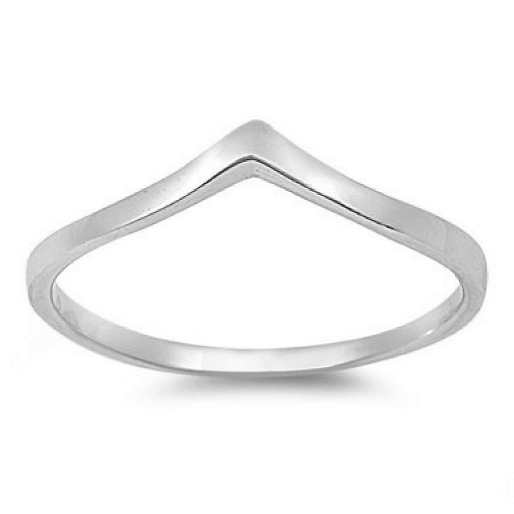 Sterling Silver V Shaped Ring - JaeBee Jewelry