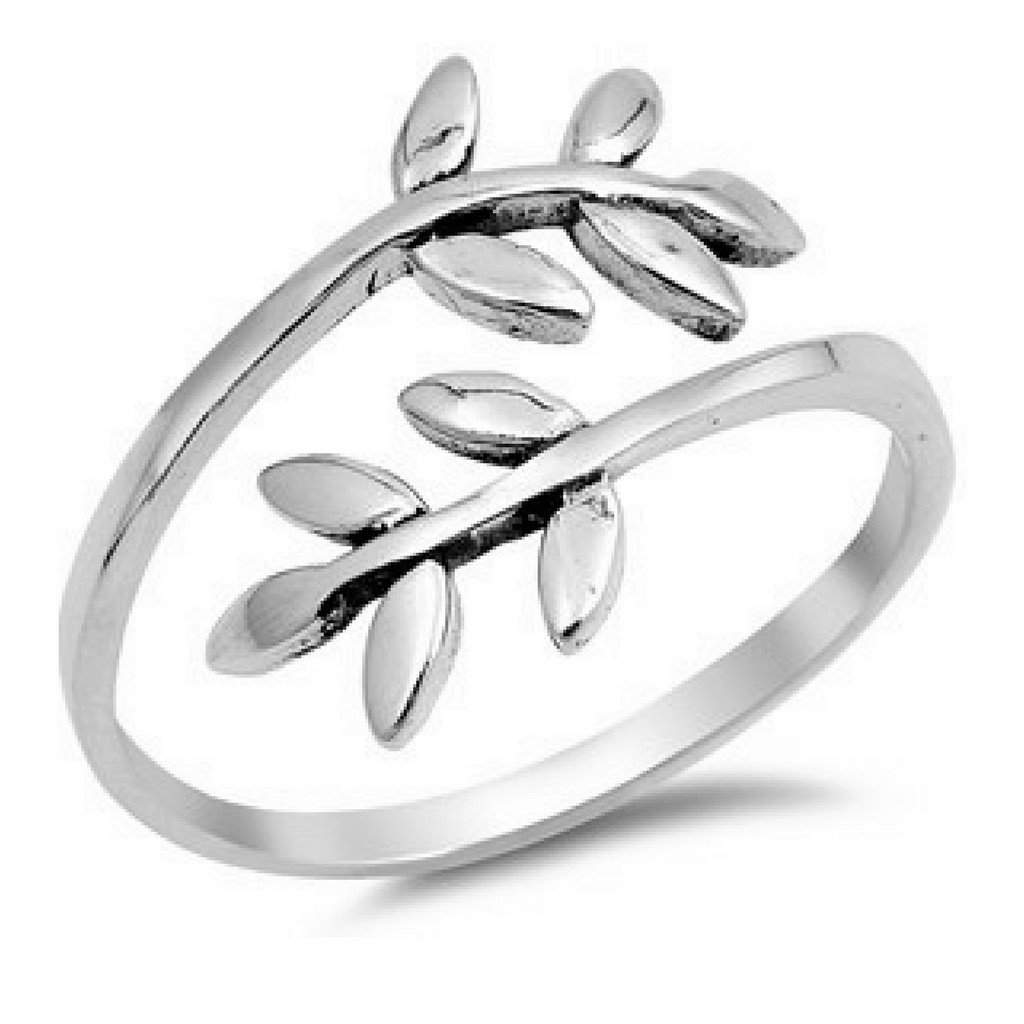 Sterling Silver Leaves on a Branch Ring