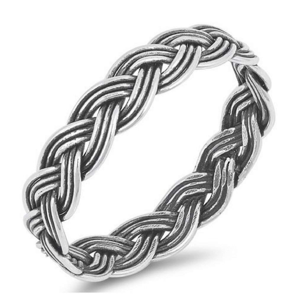 Sterling Silver Braided Ring - JaeBee Jewelry