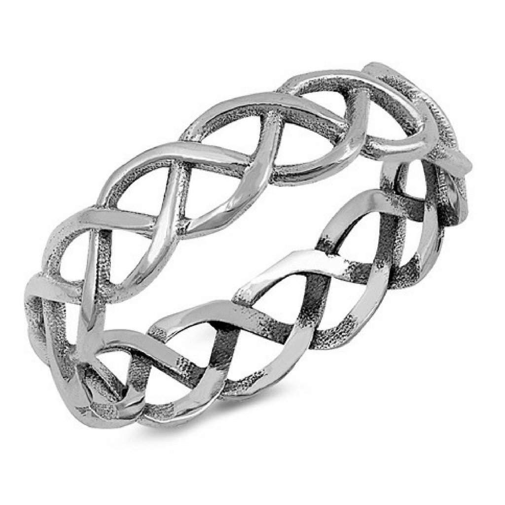 Braided Sterling Silver Ring - JaeBee Jewelry