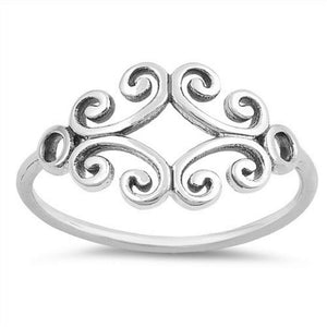 Fancy Sterling Silver Cut Out Ring - JaeBee Jewelry