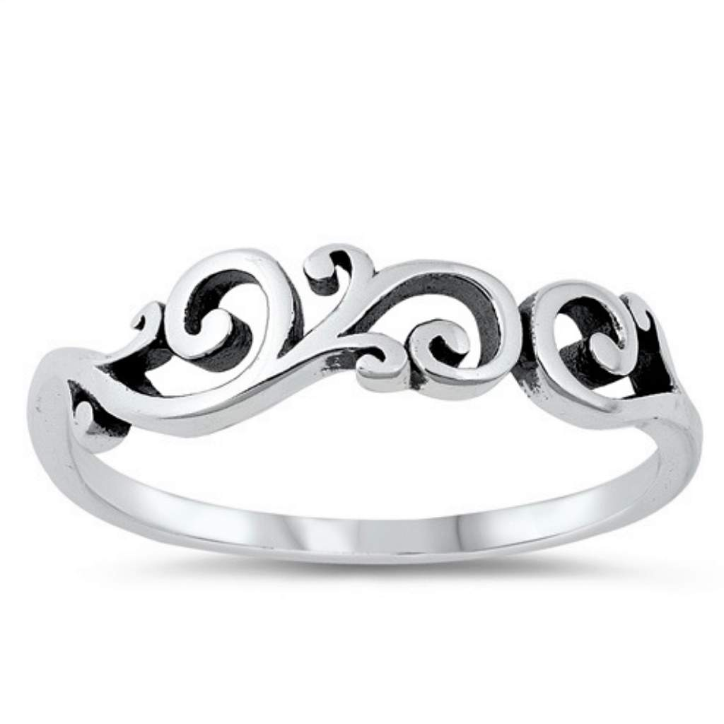 Sterling Silver Multi Swirl Ring - JaeBee Jewelry