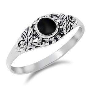 Sterling Silver and Black Onyx Womens Ring - JaeBee Jewelry