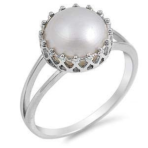 Freshwater Pearl and Sterling Silver Ring - JaeBee Jewelry