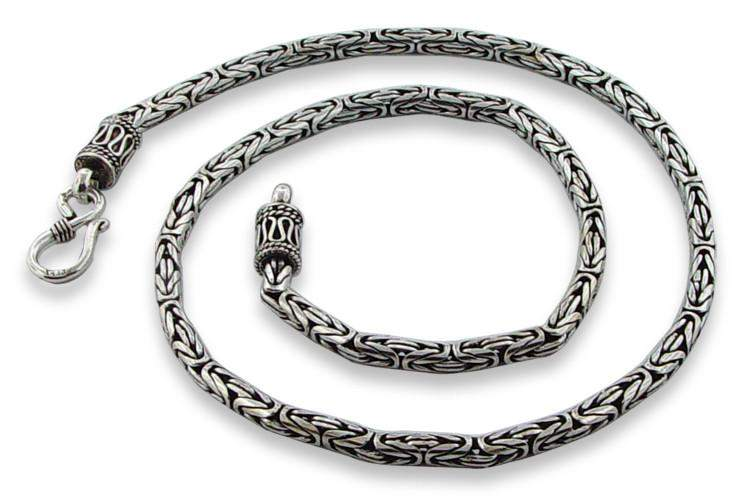 Sterling Silver Byzantine Chain Necklace - JaeBee