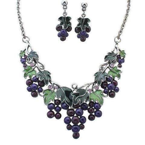 Grape Metal Statement Necklace