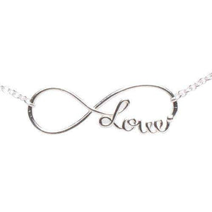 Sterling Silver Infinity Love Necklace - JaeBee Jewelry